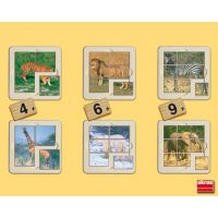 PACK 6 PUZZLES ANIMALES SELVA 4,6,,9 55101