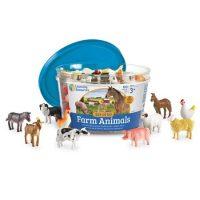 ANIMALES DE LA GRANJA PARA CONTAR 60 PZS.LER0810