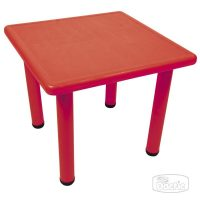 Mesa Cuadrada 60x60x50cm Rojo (013)