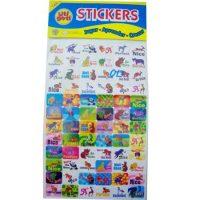 STICKERS DISPLAY ANIMALES 144 PCS TRA7202 (500)