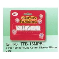 BLISTER 5 DADO BLCO.16 MM.P.RED.16MRBL(24-576)