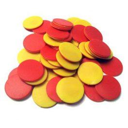 FICHAS BICOLOR P/CONTAR PLASTICAS 2COL. 200PCS S-8701 (80)