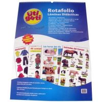 ROTAFOLIO 12 LAMINAS EDUCATIVAS DOBLE FAZ 50X70CMS