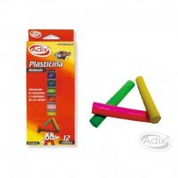Plasticina Redonda 12 Colores (001) ADIX