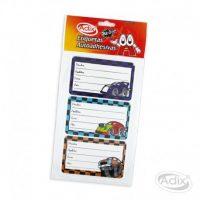 Etiqueta Escolar Auto 12u (004) ADIX