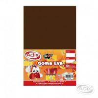 Goma Eva 20x30cm 10u Cafe Oscuro ADIX