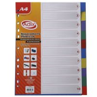 Separador Plastico A4 10u (003) ADIX