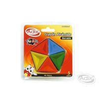 Crayon Piramide 5 Colores ADIX
