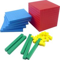 BLOQUES MULTIBASE BASE 10 PLAST. COLORES 121 PZAS. K468 (24)