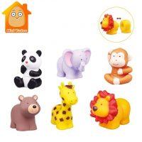 ANIMALES DE GOMA ENCAJABLE 12 PZS. 8187(48)KR12045