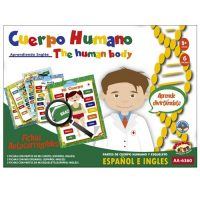 EL CUERPO HUMANO EN ESPANOL E INGLES 6 FICHAS