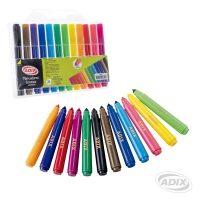 Marcador Grueso 12 Colores (002) ADIX