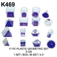 CUERPOS GEO. 3D 17PCS ACRI. K-469 ( 12 )