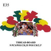 FIGURA PLASTICA PARA ENHEBRAR 9PCS E35 (35)