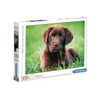 Puzzle Perrito Chocolate - 500 piezas - High Quality Collection - Clementoni