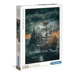 Puzzle Barco Pirata - 1500 piezas - High Quality Collection - Clementoni