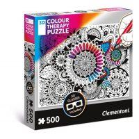 Puzzle Flores - 500 piezas - 3D Terapia del color - Clementoni