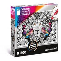 Puzzle Leon - 500 piezas - 3D Terapia del color - Clementoni