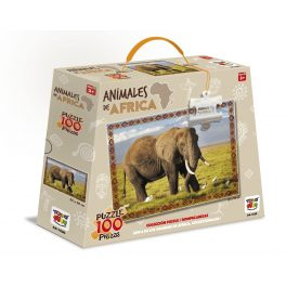 PUZZLE 100 PIEZAS ANIMALES DE AFRICA - ELEFANTE