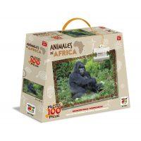 PUZZLE 100 PIEZAS ANIMALES DE AFRICA - GORILA