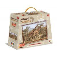 PUZZLE 100 PIEZAS ANIMALES DE AFRICA - JIRAFA