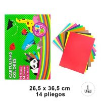 CARPETA CARTULINA DE COLORES 26,5 X 36,5 CM 14 PCS