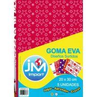 GOMA EVA OF. 5 UND.DISENOS SURT.20X30CM (100)