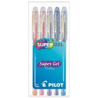 Set Lapiz Tinta Gel 5 Colores 1L+1V+1P+1LB+1O
