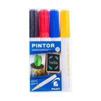 Set Pintor Extra Fino 4 Negro, Rojo, Azul, Amarillo