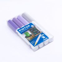 Set Pintor Extra Fino 4 Plateado, Violeta Pastel, Violeta, Violeta Metalizado
