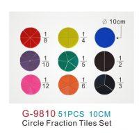 FRACCIONES CIRCULARES SIN NUMERO PLAST. 51 PZ. G-9810