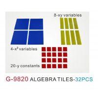 FICHAS ALGEBRAICAS 32 PZA. G-9820