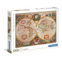 Puzzle 1000 Pcs Old Map - Clementoni