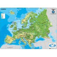 MAPA CONTINENTAL - EUROPA - FISICO - CON MOLDURA 110X77 CM