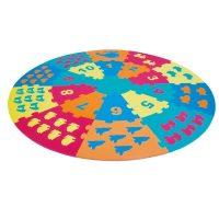 Alfombra Goma Eva Puzzle Circular