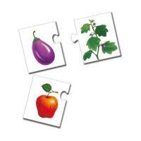 Puzzle Fruta Vegetal Carton