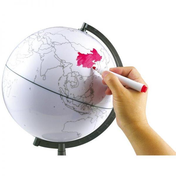 Globo Terraqueo Para Pintar 28cm 11 Inch G2827 Ge 007 Active Brain